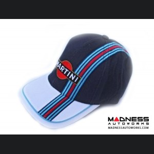 Martini Racing Hat - Navy Blue/ White w/ Racing Stripe