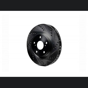 Alfa Romeo Giulia Performance Brake Rotor - 2.0L - Drilled and Slotted - Front - Right - Black