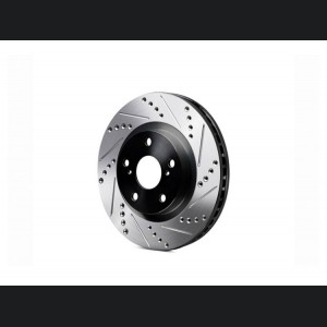 Alfa Romeo Giulia Performance Brake Rotor - 2.0L - Drilled and Slotted - Rear - Left - Black