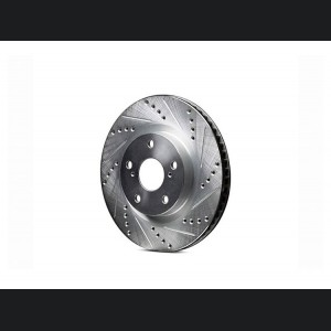 Alfa Romeo Giulia Performance Brake Rotor - 2.0L - Drilled and Slotted - Rear - Left