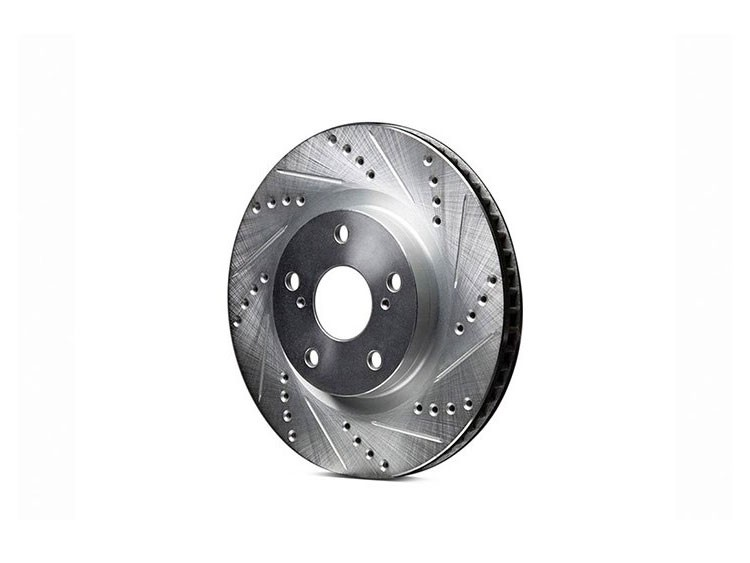 Alfa Romeo Stelvio Performance Brake Rotor - 2.0L - Drilled and Slotted - Rear - Left