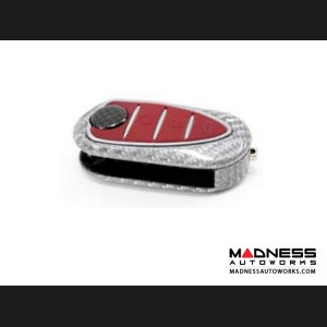 Alfa Romeo 4C Key Fob Cover - Carbon Fiber - White