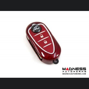 Alfa Romeo 4C Key Fob Cover - Carbon Fiber - Red
