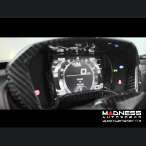 Alfa Romeo 4C Carbon Fiber Instrument Gauge Trim - Matte Finish