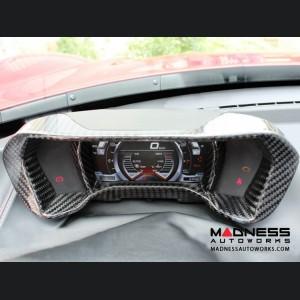 Alfa Romeo 4C Carbon Fiber Instrument Gauge Trim