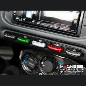 Alfa Romeo 4C Carbon Fiber Center Console Switch Bank Trim Set - Italian Style