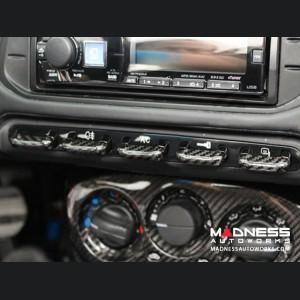 Alfa Romeo 4C Center Console Switch Bank Trim Set - Carbon Fiber