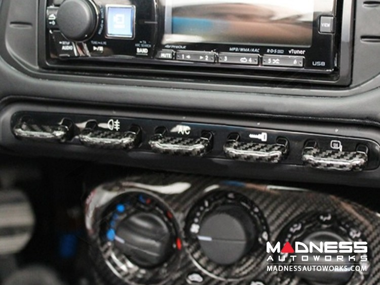 Alfa Romeo 4C Carbon Fiber Center Console Switch Bank Trim Set