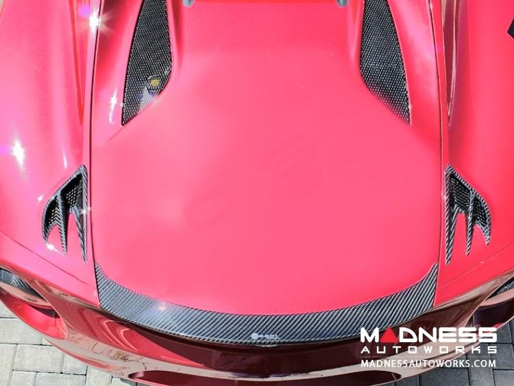 Alfa Romeo 4C Carbon Fiber Rear Extreme Air Extractor Set - Spyder