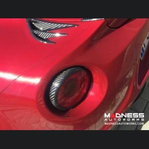 Alfa Romeo 4C Carbon Fiber Tail Light Trim Set