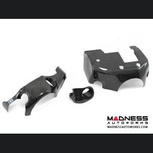 Alfa Romeo 4C Carbon Fiber Steering Wheel Shroud Trim Set