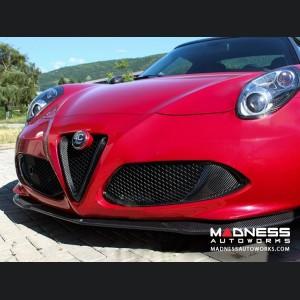 Alfa Romeo 4C Carbon Fiber Front Bumper Center Grille Frame - Red Carbon