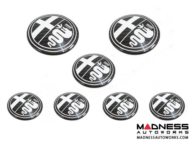 alfa romeo 4c badge cover kit - carbon fiber