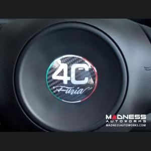Alfa Romeo 4C Carbon Fiber Badge Cover Kit - Furia