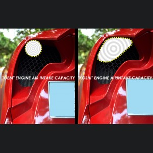 Alfa Romeo 4C Carbon Fiber Exhaust Cooling Air Inlet