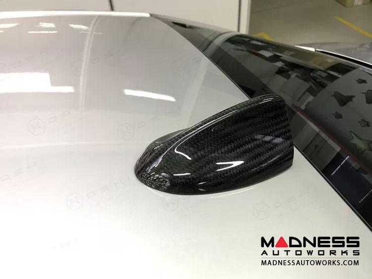 Alfa Romeo Giulia Antenna Cover - Carbon Fiber