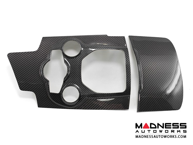 Alfa Romeo Giulia Center Console Switch Bank Trim Set - Carbon Fiber