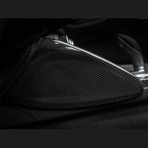 Alfa Romeo Giulia Center Console Side Panel Trim Cover - Carbon Fiber