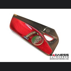 Alfa Romeo 4C Carbon Fiber Door Panels - w/ Red Candy Accents