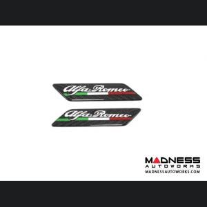 Alfa Romeo 4C Carbon Fiber Badges - Alfa Romeo