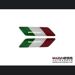 Alfa Romeo 4C Carbon Fiber Badges - Italian Flag