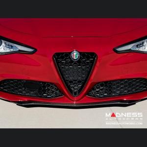 Alfa Romeo Giulia Front Spoiler - Carbon Fiber - QV Style - V1 - Base Model