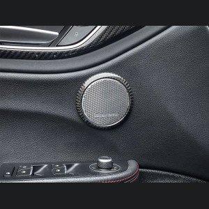 Alfa Romeo Giulia Carbon Fiber Door Speaker Frame - Front - Small