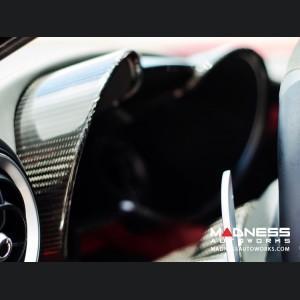 Alfa Romeo Giulia Instrument Cluster Cover - Carbon Fiber - Quadrifoglio Model