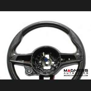 Alfa Romeo Giulia Steering Wheel Trim - QV Model - Upper Cover - Carbon Fiber - Italian Flag