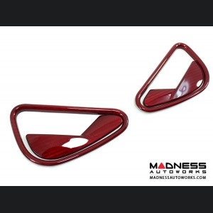 Alfa Romeo 4C Carbon Fiber Interior Door Handle Set - Red