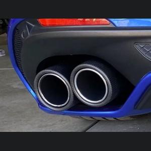 Alfa Romeo Stelvio Exhaust Tips - Carbon Fiber - Quadrifoglio Version