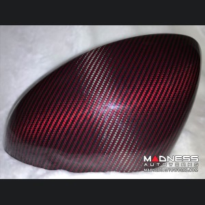 Alfa Romeo Giulia Mirror Covers - Carbon Fiber - Red - Feroce
