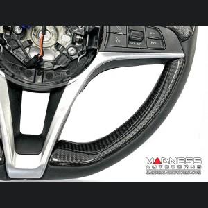 Alfa Romeo Stelvio Steering Wheel Trim - Std Model - 2 Piece Lower Side Covers - Carbon Fiber