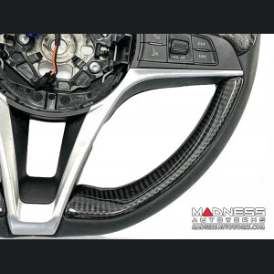 Alfa Romeo Giulia Steering Wheel Trim - Std Model - 2 Lower Side Covers - Carbon Fiber