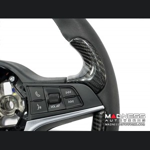 Alfa Romeo Stelvio Steering Wheel Trim - Std Model - Thumb Grip Covers - Carbon Fiber