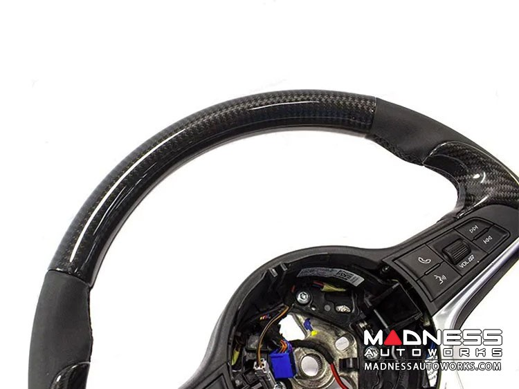 Alfa Romeo Stelvio Steering Wheel Trim - Std Model - Upper Cover - Carbon Fiber