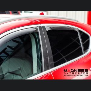 Alfa Romeo Stelvio Exterior Door Pillars - Carbon Fiber - 6pc Set