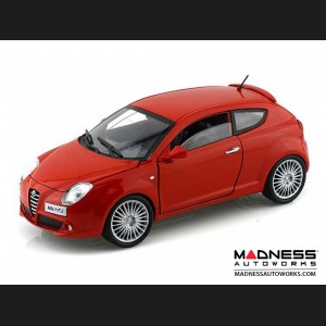 Alfa Romeo Mito Die Cast Model - 1:24 Scale - Red