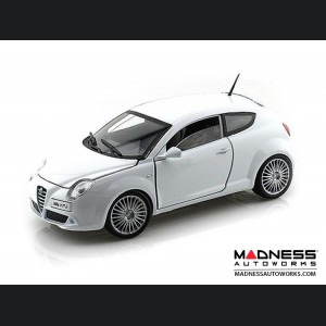 Alfa Romeo Mito Die Cast Model - 1:24 Scale - White