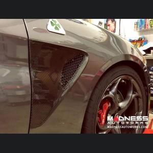 Alfa Romeo Giulia Quadrifoglio (QV) Fender Grill Frame - Carbon Fiber