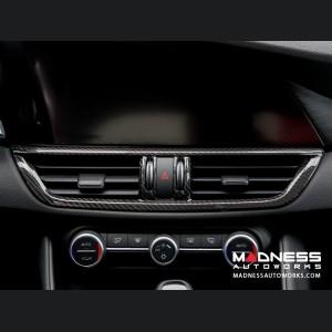 Alfa Romeo Giulia Internal A/C Air Vent Cover Frame - Carbon Fiber - LHD