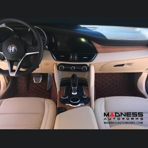 Alfa Romeo Giulia Floor Liner Set - Chocolate Brown - RWD