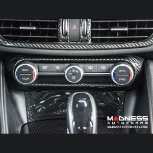 Alfa Romeo Giulia Air Conditioning (A/C) Dash Bezel - Carbon Fiber - RHD - Italian Flag