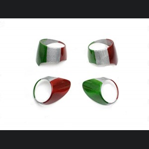 Alfa Romeo Giulia Air Vent Covers - Carbon Fiber - Italian Flag