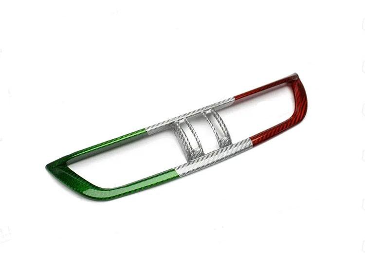 Alfa Romeo Giulia Internal A/C Air Vent Cover Frame - Carbon Fiber - Italian Flag - RHD