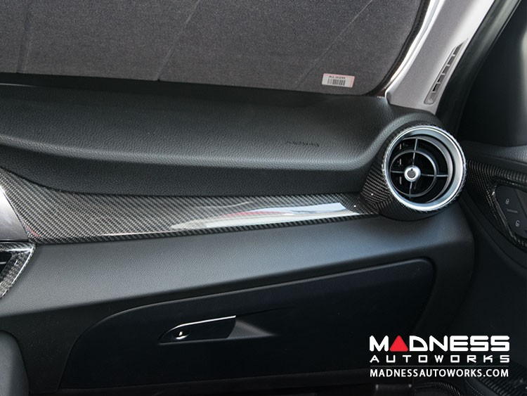 Alfa Romeo Giulia Dash Trim Kit - Carbon Fiber