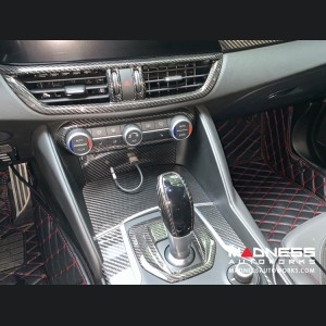 Alfa Romeo Giulia Air Conditioning (A/C) Dash Bezel - Carbon Fiber