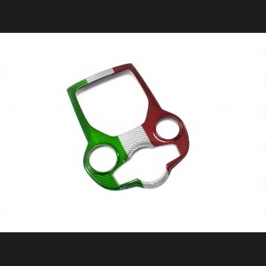 Alfa Romeo Giulia Partial Central Console Tunnel Trim - Carbon Fiber - Italian Flag - LHD