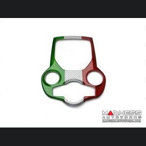Alfa Romeo Giulia Partial Central Console Tunnel Trim - Carbon Fiber - Italian Flag - RHD