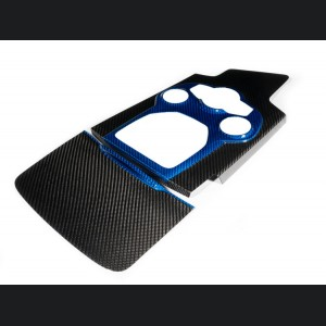 Alfa Romeo Giulia Center Console Tunnel Trim - Carbon Fiber - Blue Combo